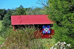 """ I Was Country, When Country Wasn't Cool .... (~ Cindy~) Tags: barn red skies blue quilt country life tn crossville 2016 july"