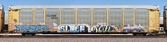 Masen/Sleep/Scor/Act (quiet-silence) Tags: graffiti graff freight fr8 train railroad railcar art masen sleep scor act rtd autorack railheads ya ns norfolksouthern ttgx985716