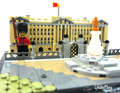 I am on a very serious duty (WhiteFang (Eurobricks)) Tags: lego architecture set landmark country buckingham palace victoria elizabeth royal royalty family crown jewel imperial statue tourist united kingdom uk micro bus taxi