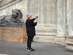 A lion smiles at the tourists (Len Radin) Tags: vatican vaticancity holysee rome art renaissance hieroglyphics vaticanmuseum italy bicyclingtrip discoverybicycle europe theholysee darlene woo darleneradin