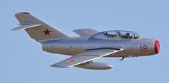 MiG-15 6 20160911 (Steve TB) Tags: duxford iwm meetthefighters 2016 canon eos7dmarkii mikoyan gurevich mig15uti norwegianairforcehistoricalsquadron