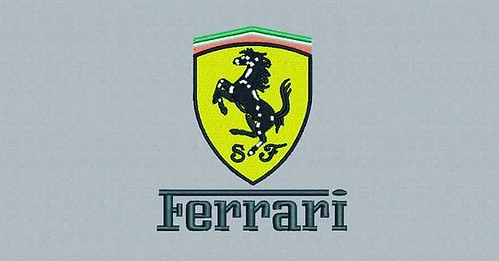 digitized #ferrari - true flat rate embroidery digitizing - prices start at $5.99 per design.  Email your artwork in pdf, jpg or png format to indiandigitizer@gmail.com.  www.IndianDigitizer.com  #FlatRateEmbroideryDigitizing #Indiandigitizer  #embroidery
