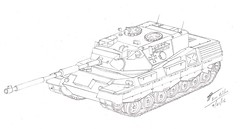 Leopard 1A3 (Navy Person) Tags: sketch drawing fan art tank leopard