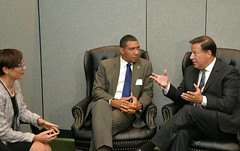 PM Holness meets with Panama President