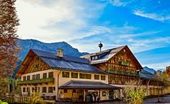 Tourism Neuschwanstein (Dominique.B88) Tags: 1855 blue d5300 dslr germany houses mountain neuschwanstein nikon sky travel trees view