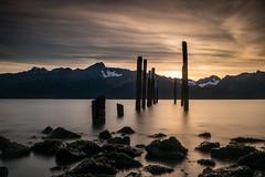Alaskan Sunrise (scburgin) Tags: alaska sea seascape sunrise sun ocean water mountains landscape longexposure sky clouds cloudscape travel photography