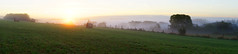 Sunrise : the most beautiful moment of the day. (look to see) Tags: tintigny gaume belgium landscape pano mist nachtvorst sunrise zonsopkomst vintagelens canonfd50mm14 2016