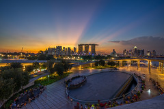 Marina Barrage Singapore (BP Chua) Tags: singapore marina barrage sunset urban street reservoir saturday landscape circle round sun sunrays rays light wideangle a7 marinabaysingapore marinabaysands city evening marinabarrage travel platinumheartaward visipixcollections