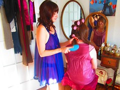 September 2012 (Patrice Bailey) Tags: pink tv cd makeup crossdressing tgirl transgender tranny transvestite makeover crossdresser crossdress ts gurl curlers nightie tgurl