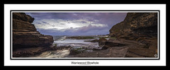Warriewood Blowhole (John_Armytage) Tags: panorama seascape zeiss sunrise dawn movement rocks pano australia panoramic blowhole pastels nsw canon5d headland northernbeaches canyonx novaflex warriewoodblowhole johnarmytage wwwjohnarmytagephotographycom carlzeiss50ml14