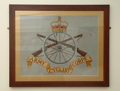 Army Cycle Corps (zombikombi1959) Tags: bike bicycle sign painting acc pub cyclist rifle crest badge worldwarone ww1 greatwar amateur memorabilia capbadge armycyclistcorps crossedrifles armycyclecorps