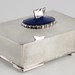 177. Silver Plated Dresser Box with Wooden Liner