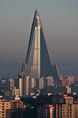 Ryugyong Dawn (China Chas) Tags: tower architecture skyscraper buildings northkorea 2012 pyongyang dprk koryo 70200mmis ryugyonghotel hotelofdoom