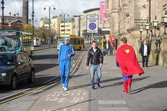 Men and Superman (Photocapy) Tags: autumn england hat liverpool costume superman superhero contact machismo adidas jmu limestreet 2012 streetwise merseyside kalel trainingsuit trainstn northwesternhall