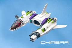 Chimera (ted @ndes) Tags: lego space system asymmetry vv starfighter vicviper