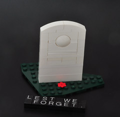 Lest we forget. (Si-MOCs) Tags: lego lestweforget