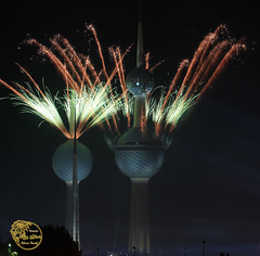 Kuwait Firework (Adnan Yousef) Tags: fireworks towers kuwait q8 adnan yousef kuwaittowers kuwfireworks