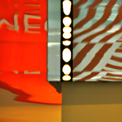neon-stopper (SteffenTuck) Tags: light orange reflections graphics interior arcade brisbane ceiling edge signage inside wintergarten steffentuck