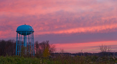 Red dawn... (tbower) Tags: morning ohio sky sun nature sunrise geotagged dawn nikon raw nef watertower cs5 canalfultonohio d3s starkcountyohio nikongp1 nikkor24120f4vr