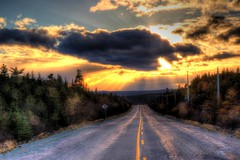 Bonavista Bay Highway (RockyWaters2012) Tags: autumn trees sunset sky newfoundland bay highway colours scenic calm peninsula bonavista