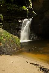 Exit The Canyon (edwinemmerick) Tags: longexposure light 20d water rock creek canon eos waterfall moss sand stream australia bluemountains canyon le nsw slowshutter newsouthwales edwin wentworthfalls emmerick edwinemmerick