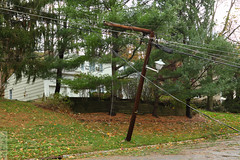 Snapped Pole (wmliu) Tags: new storm us sandy hurricane nj utility pole jersey tropical snapped wmliu