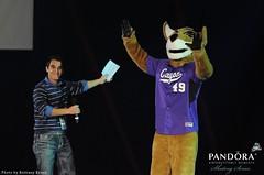 Grand Canyon University student and mascot