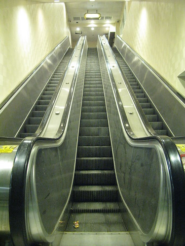 24 inch escalator collecting dust