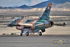 Aggressor on Alert (glenhaas309) Tags: fighter airshow f16 falcon viper usaf usairforce redflag nellisafb generaldynamics aggressor aviationnation