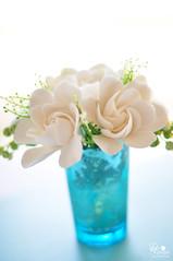 gardeniateal1 (dkdesigns) Tags: pink flowers green ranunculus clay dk designs anemones succulents gardenias heirloomroses gardenroses claycraftbydecoanddkdesigns hipericumberries decoclayanddkdesigns
