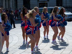 Olympic Cheer Leaders - Trafalgar Square (Waterford_Man) Tags: show people london girl display path trafalgarsquare olympiccheerleaders