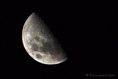 Moon - November 20th 2012 (Nick Fedele) Tags: moon night tampa photo nikon craters fl tamron lunar teleconverter halfmoon tampafl 70300 nf tamron70300 firstquarter manonthemoon 900mm vivitar2x nfphotography d3100 nikond3100 56full nickfedele