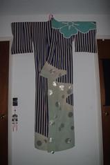 Striped Dance Hikizuri (TsurukoMaiko) Tags: vintage antique silk maiko geiko geisha kimono showa hanamachi taisho kinsha kagai hikizuri susohiki