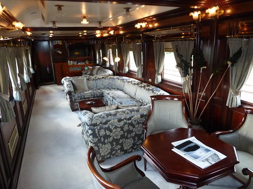 AL Andalus - luxury train in Spain, lounge