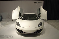 2013 McLaren 12C (Brett Levin Photography) Tags: auto show white aluminum shot miami c twin front mc international turbo mclaren 12 torque v8 laren 38 616 38l 443 12c 2013 616hp shpow m838t 433torque