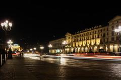 IMG_9876 (Michiluzzu) Tags: night torino piazza turin vittorio veneto scie luminose
