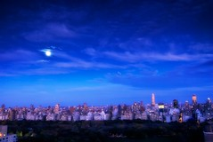 New York Starry Night (DPGold Photos) Tags: city nyc travel moon ny newyork building night lights nikon cityscape nightscape centralpark manhattan ues bluehour eastside starry uppereastside starrynight 60w66 dpgoldphotos