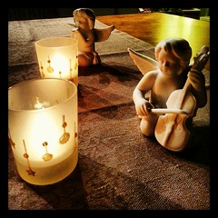 Advent 1 (goblin2601) Tags: angel square candles advent flame violin instagram flickrandroidapp:filter=none