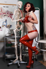 Roxy Love (Kevin Rutterford) Tags: sexy stockings girl tattoo ink model lingerie latex nurse alternative inked