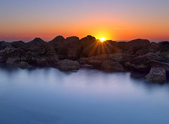Evening Splendor (NatashaP) Tags: longexposure sunset sea sun rocks d800 nikond800
