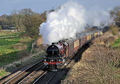 christmas cathedrals 1 (midcheshireman) Tags: train cheshire pacific princess steam locomotive mainline stanier 6201 princesselizabeth cathedralsexpress