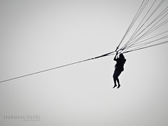 Parachute 2 (Harshal G Patel) Tags: sky people india beach fun photography sony 2012 parachute diu nagoa dschx100v harshal27