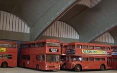 Stockwell bus garage (kingsway john) Tags: stockwell bus garage model 176 scale kingsway models card kit routemaster metrobus fleetline diecast backscene interior diorama kingswaymodels londontransportmodel oo gauge miniature