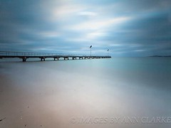 Hushed (Images by Ann Clarke) Tags: longexposure blue clouds jetty australia southaustralia eyrepeninsula leefilters 10stopper