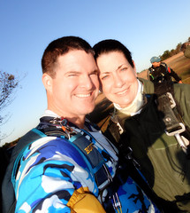 Jody's First Skydive 2012, Kevin and Jody pre-jump self-portrait (divemasterking2000) Tags: nov november sky fall beach skydiving coast la flying al jump jumping gulf alabama dive first diving center jody skydive lower canopy dropzone emerald parachuting 2012 parachute dz canopies skyjump gulfcoast elberta firstjump florabama jodys parachutes skyflying skyfly emeraldcoast loweralabama skyjumping beachjump emeraldcoastskydivingcenter firstskydive beachskydive jodysfirstjump jodysfirstskydive