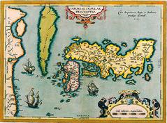 Antique Maps (divinumphoto) Tags: map antiquemapsoftheworld abrahamortelius c1590 mapofjapan