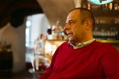 Jirka (Karina Frankova) Tags: portrait man color guy cafe krumlov