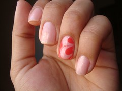 #Me indique um tema! (melinape) Tags: floral rosa nailpolish risque esmalte colorama marblenails meindiqueumtema