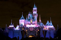 Disneylands Castle Decorated for the Holidays