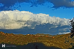 From My Window (Cloud, Sky, Mountain, Shadow, Chaparral) (The Open Wall (Catching Up)) Tags: sky mountains texture nature clouds landscape shadows hills magiccity theopenwall grantpfabian